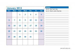 Sample Calendar 3