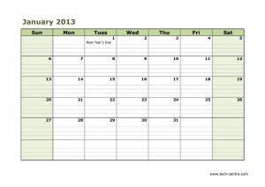 Sample Calendar 2