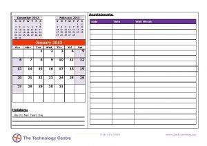 Sample Calendar (1)