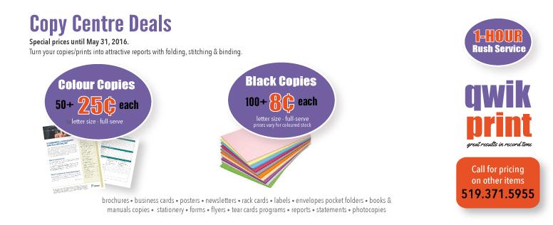 Qwik Print Copy Sale